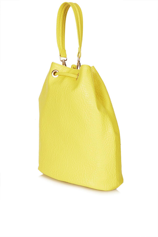 7a4968e852e9 Lyst - Topshop Merino Duffle Bag in Yellow