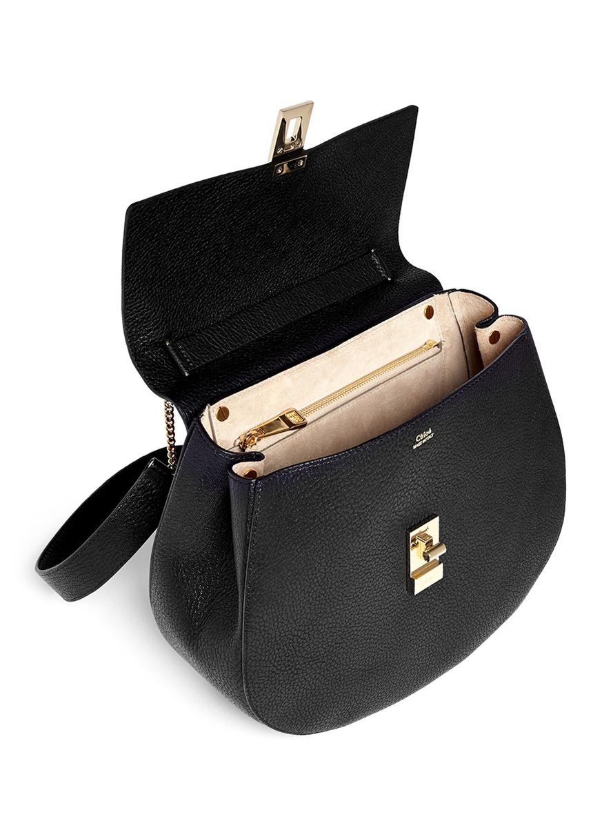 chloe inspired handbags - Chlo�� \u0026#39;drew\u0026#39; Medium Pebbled Leather Shoulder Bag in Black | Lyst