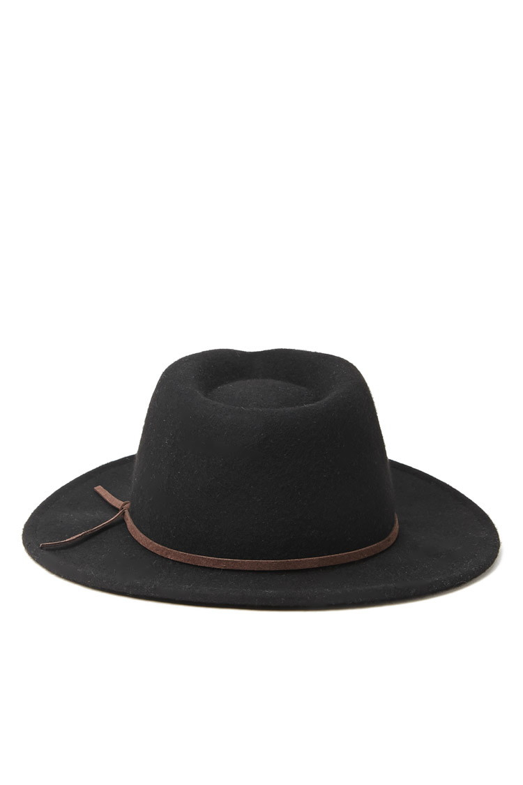 aeda964878a Lyst Forever 21 Men Wide Brim Wool Fedora In Black For