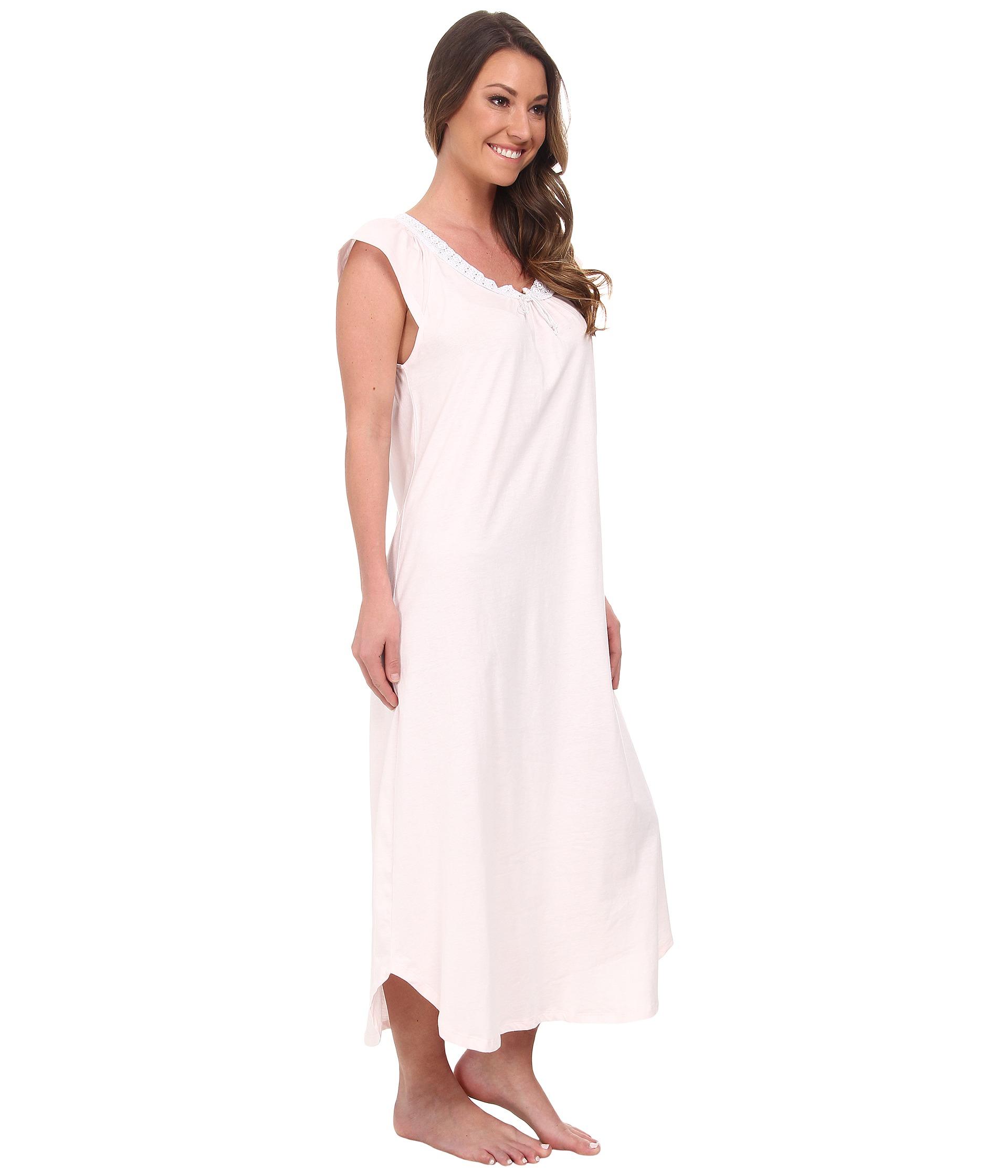 Lyst - Carole Hochman Soft Jersey Long Gown in Pink 00c090469