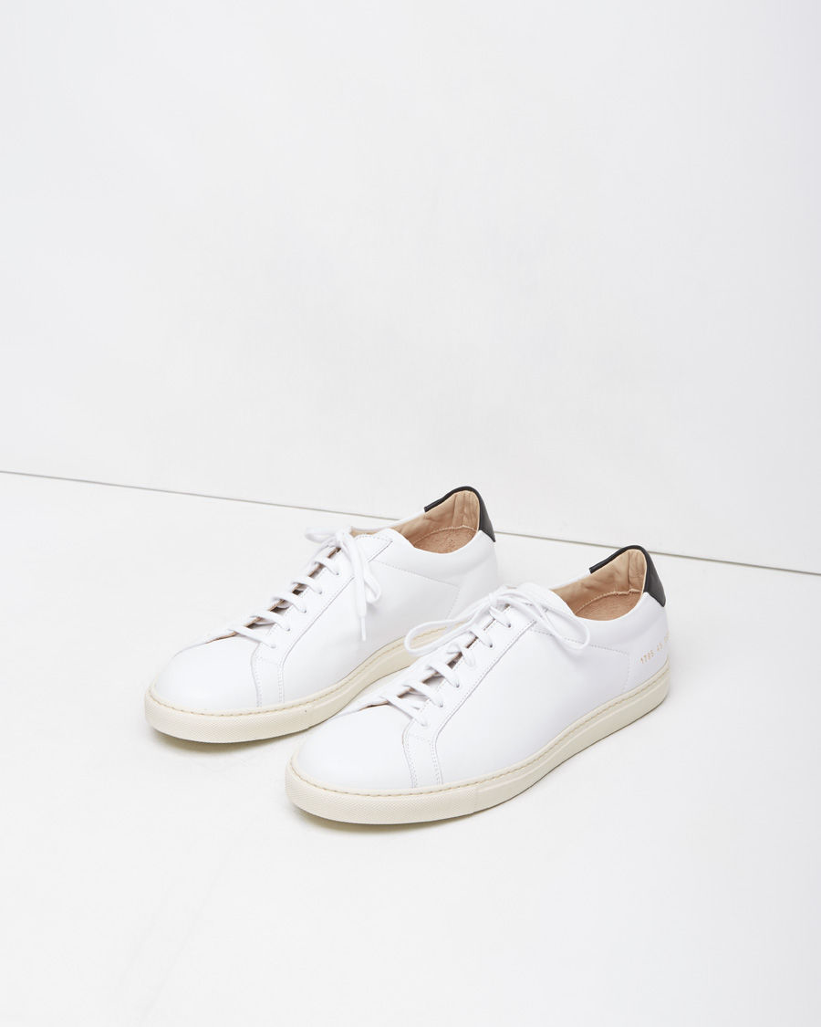 common projects retro achilles low sneaker in white for men lyst. Black Bedroom Furniture Sets. Home Design Ideas