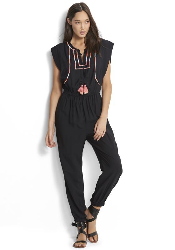 cdaa4232b2b9 Lyst - Seafolly Black Embroidered Jumpsuit in Black