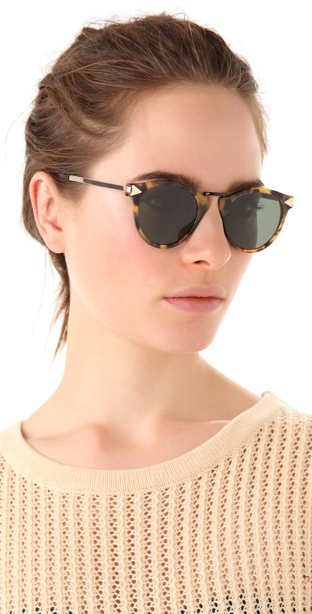 82e90b28d2d Lyst - Karen Walker Helter Skelter Sunglasses in Brown