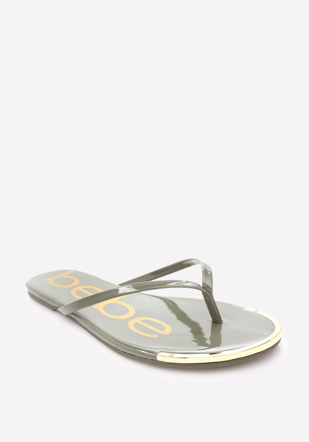 Lyst Bebe Ilana Logo Flip Flops