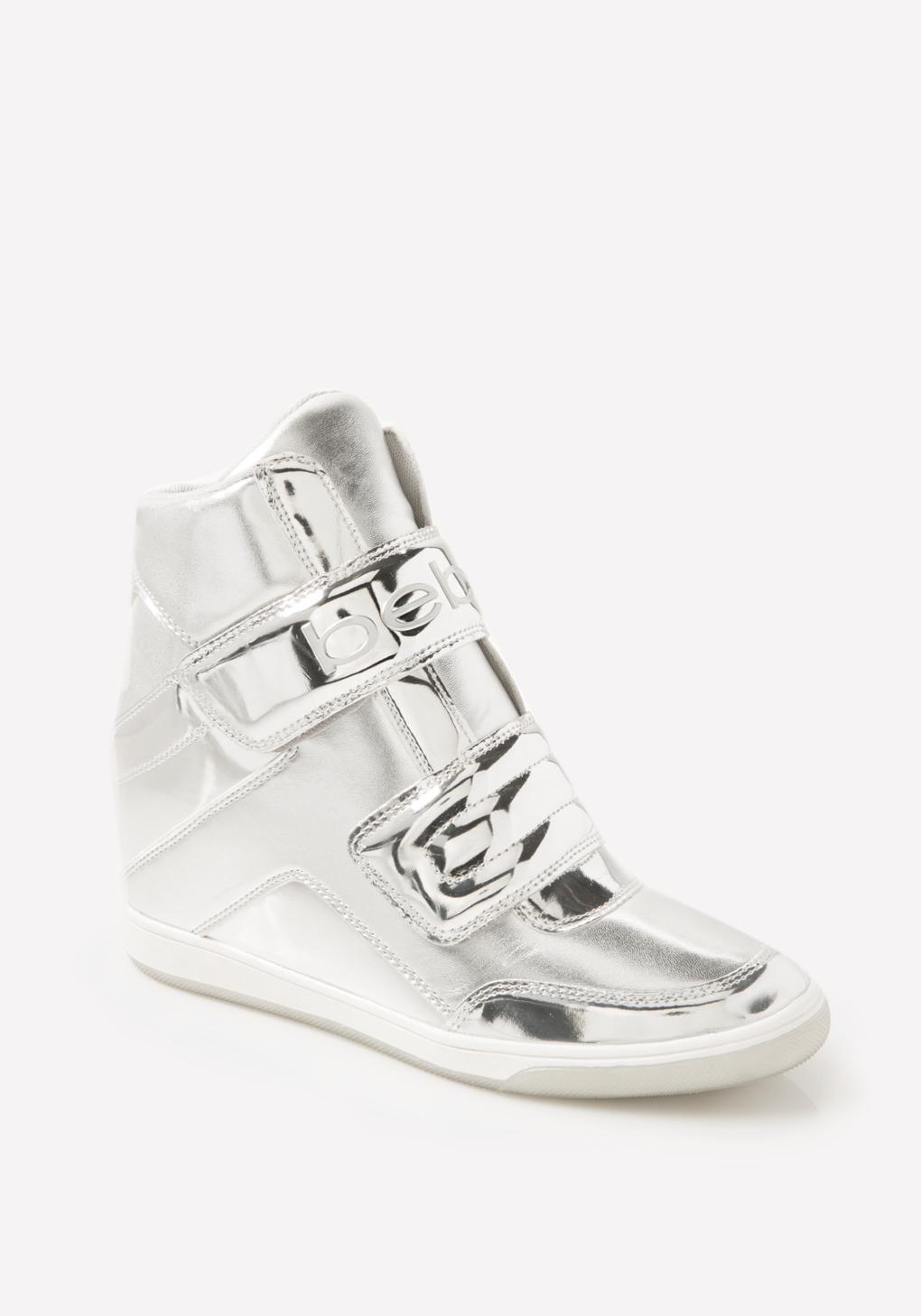 14d54a0b50a Bebe Cobble High Top Sneakers in Metallic - Lyst