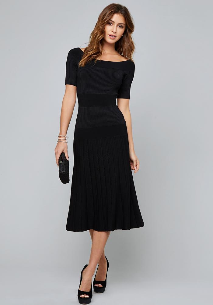 a80c6c083db4 Lyst - Bebe Tatiana Dress in Black