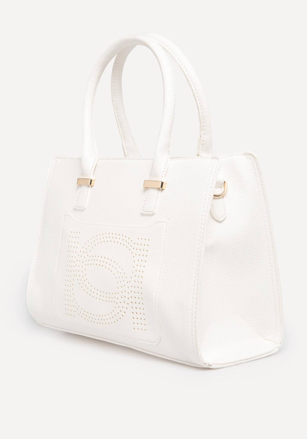 5f140ad323 Bebe Holly Satchel in White - Lyst