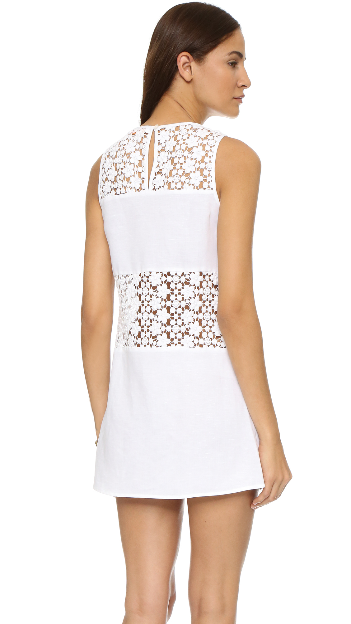 Lyst Tory Burch A Line Cover Up Dress In White