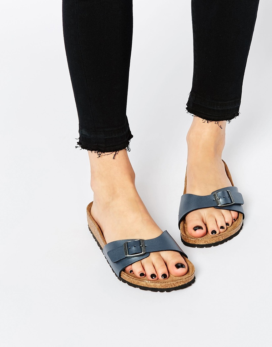 birkenstock madrid sandals metallic
