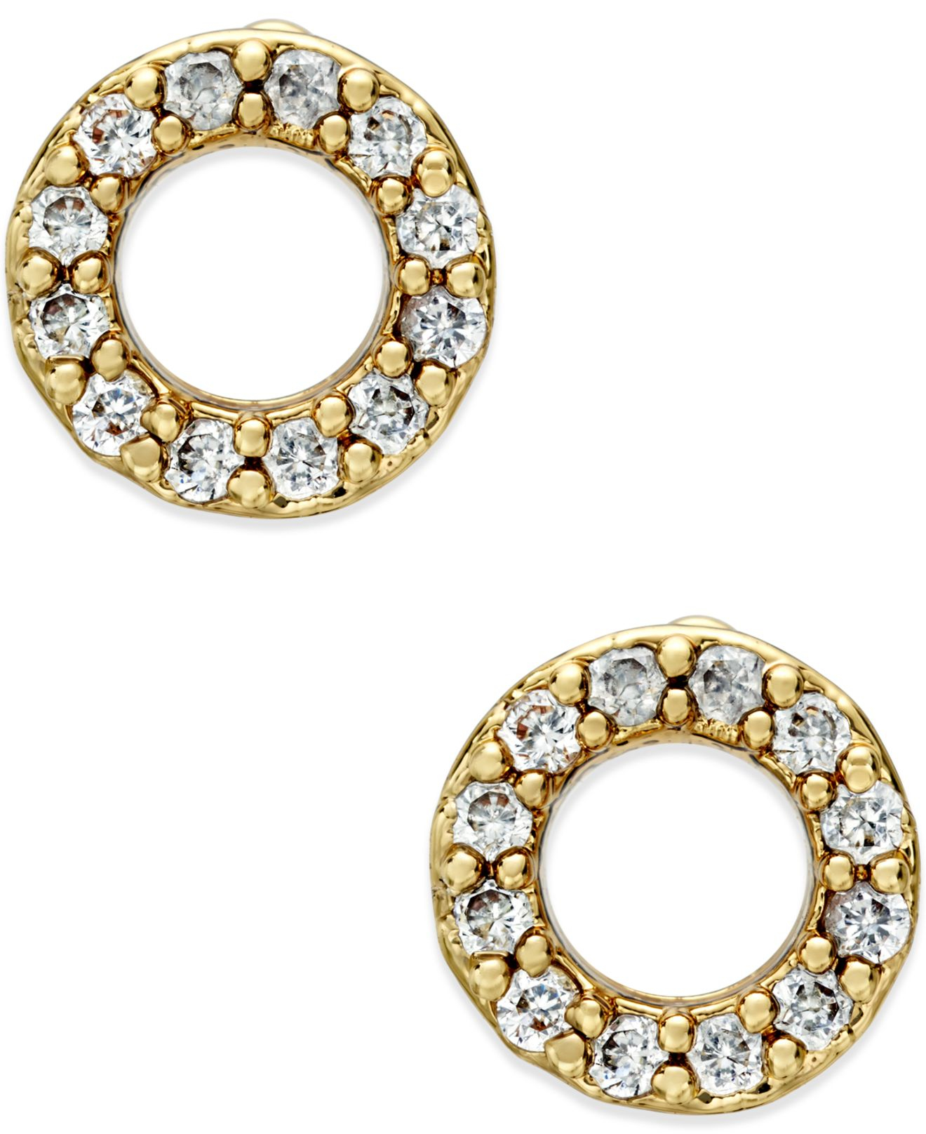 open circle normal earrings lyst in gregson diamond metallic stud brooke jewelry product gallery gold