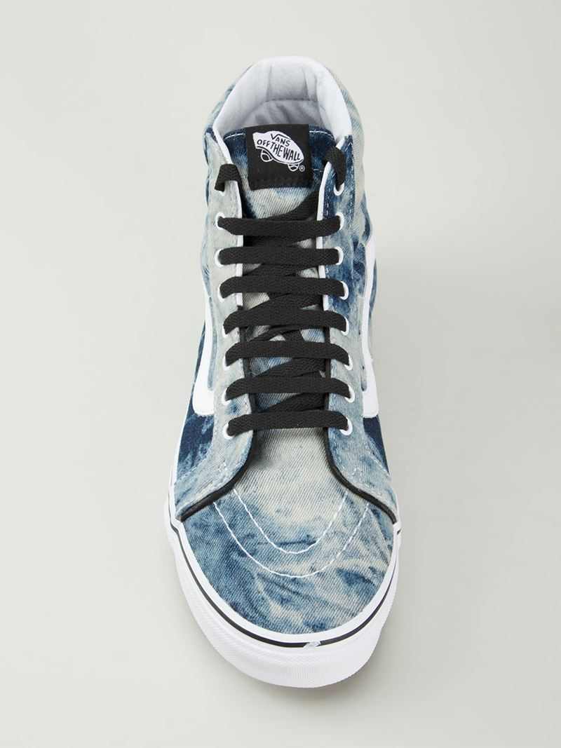 c1fa281a Vans Tie Dye Print Lace Up Sneakers in Blue for Men - Lyst
