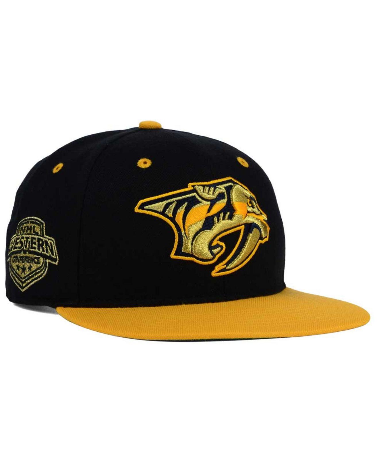 the latest add48 7b096 ... coupon code for lyst 47 brand nashville predators gold rush snapback cap  in black for men