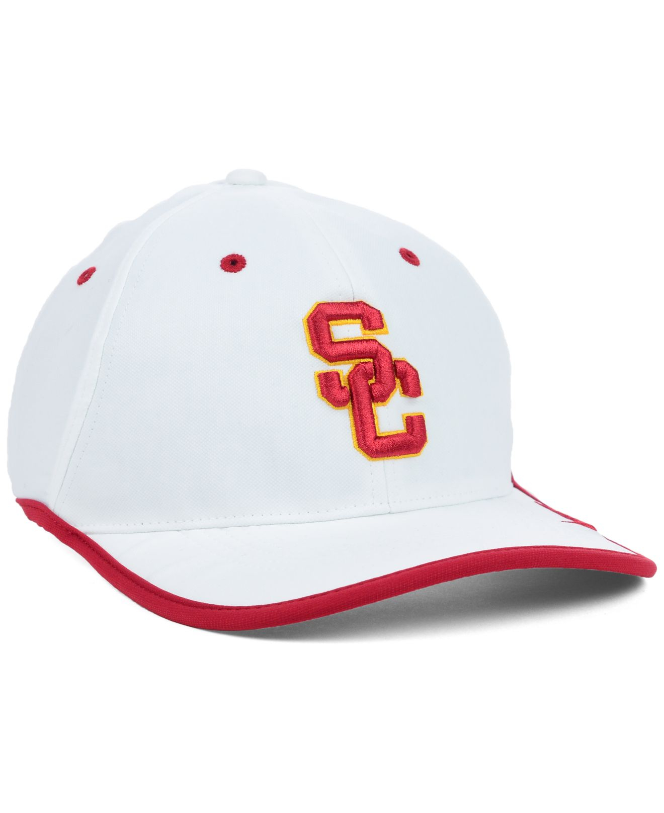 9084e648a18a6 shop usc white baseball hat 747aa d6c0a  italy lyst nike usc trojans  coaches dri fit cap in white for men 0b032 6f903