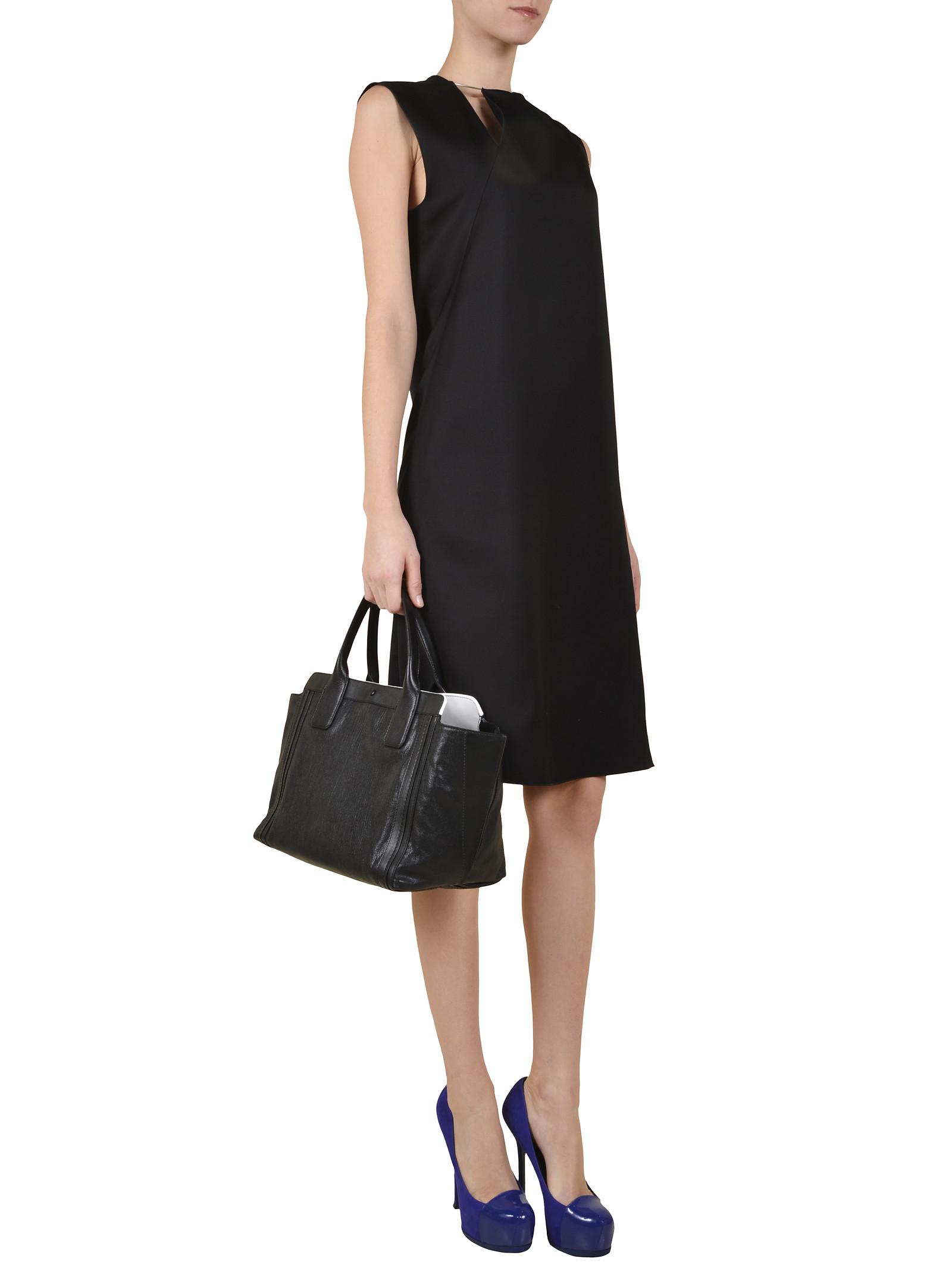 Chlo¨¦ Shopper in Pelle Alison in Black   Lyst
