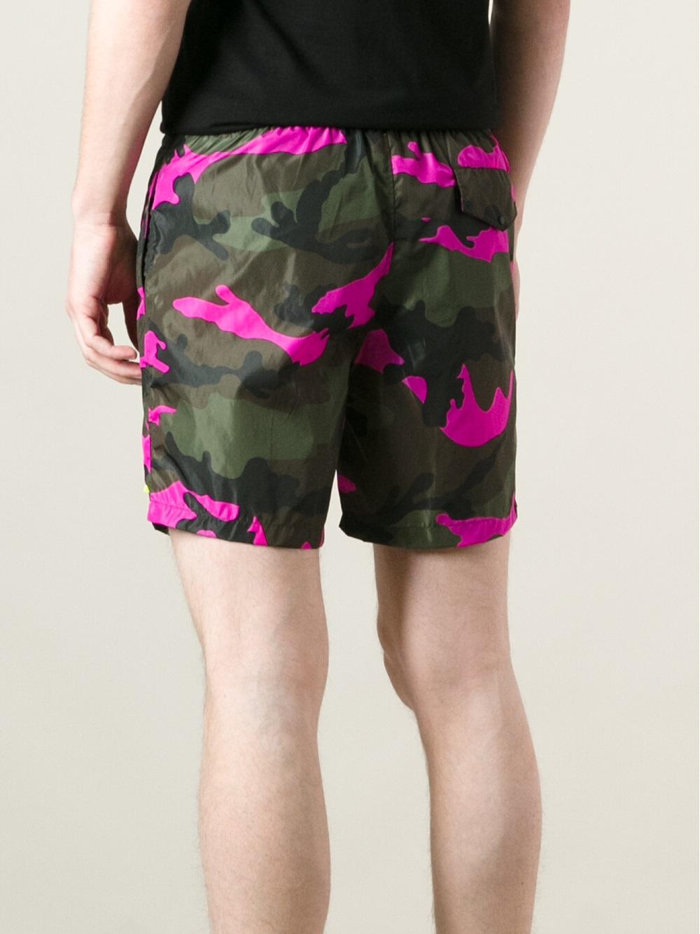 Lyst Valentino Camouflage Swim Shorts For Men