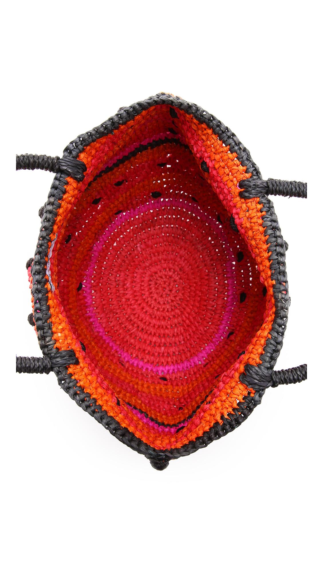 Lyst sensi studio mini round bag unique in red - Dive senza slip ...