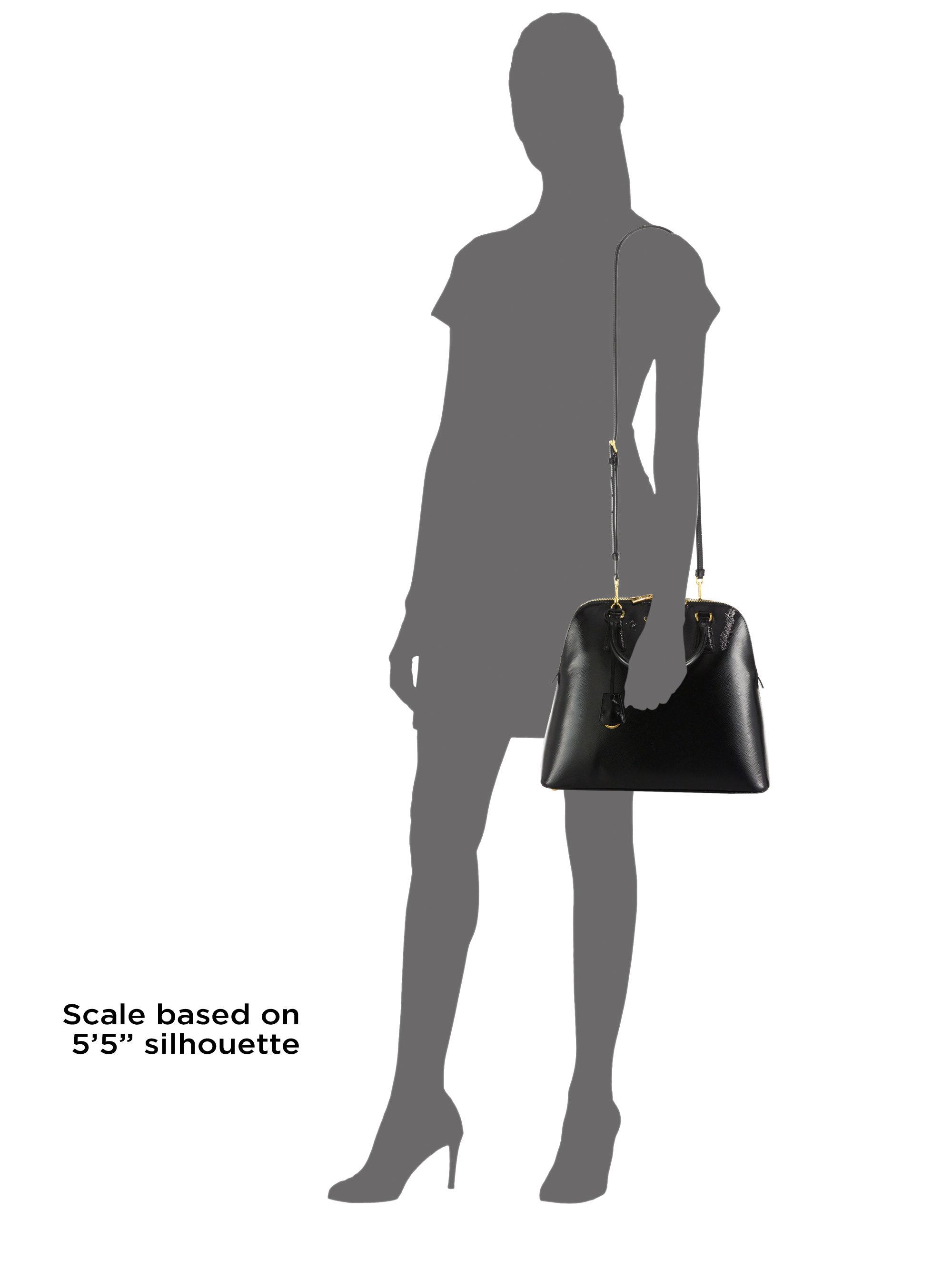 c8ce053c9 Prada Saffiano Vernice Promenade Bag in Black - Lyst