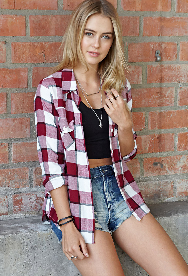 Lyst - Forever 21 Rustic Plaid Shirt In Red-4965