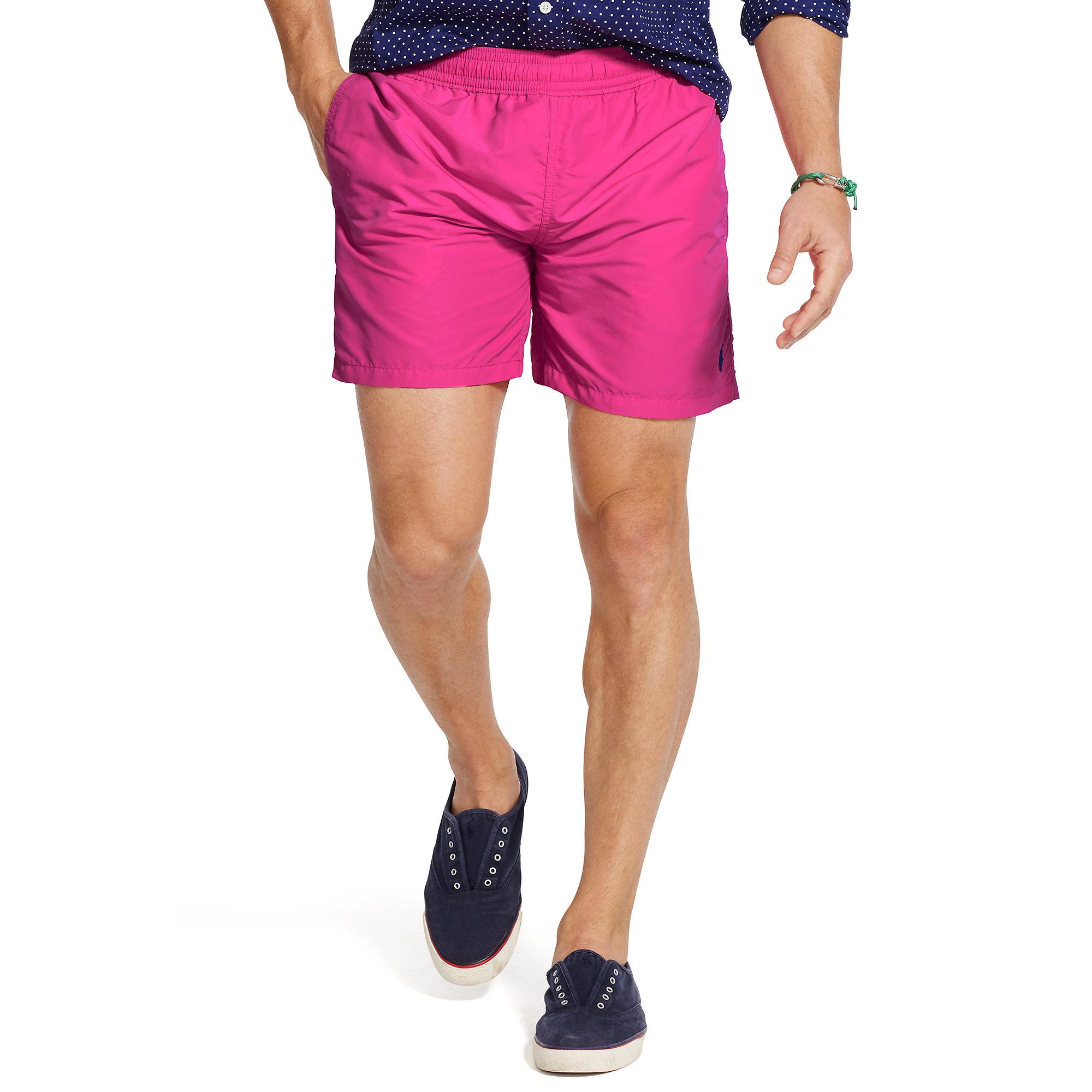 da2bdc0b8d Polo Ralph Lauren 5¾-inch Hawaiian Swim Trunk in Pink for Men - Lyst