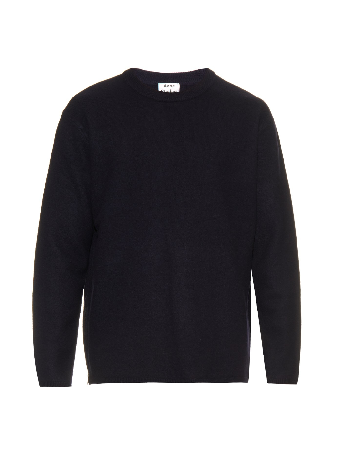acne studios micha sweater in blue for men lyst. Black Bedroom Furniture Sets. Home Design Ideas