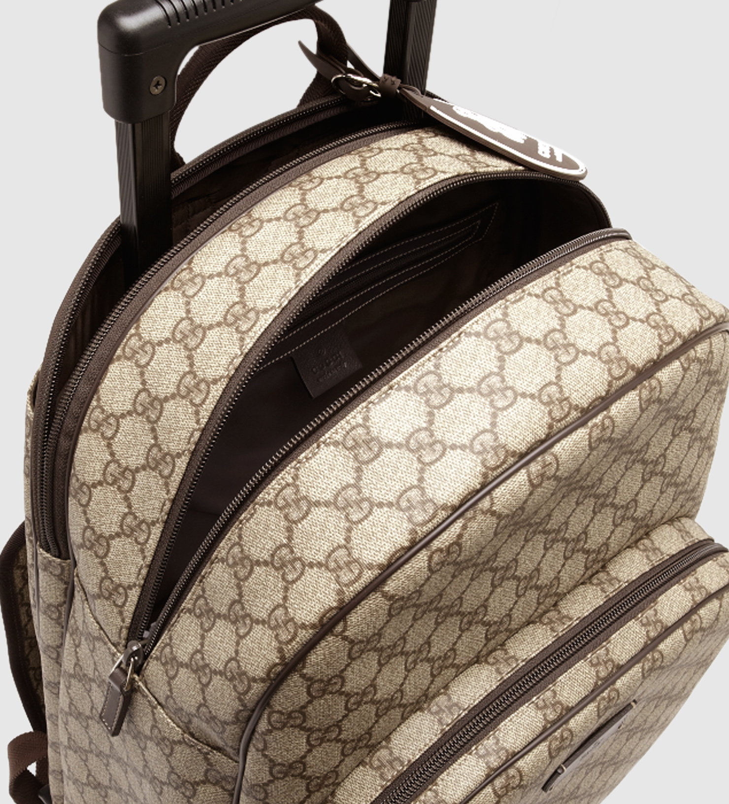 0efbee3a0 Gucci Kid's Gg Supreme Canvas Trolley Backpack in Natural for Men - Lyst