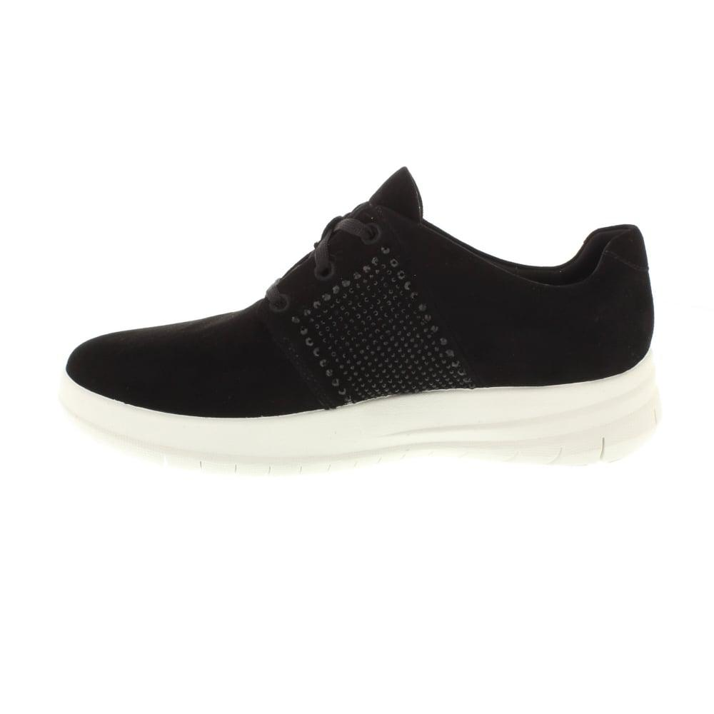 033e4890d37ed Lyst - Fitflop Sporty Pop X Crystal Sneaker in Black