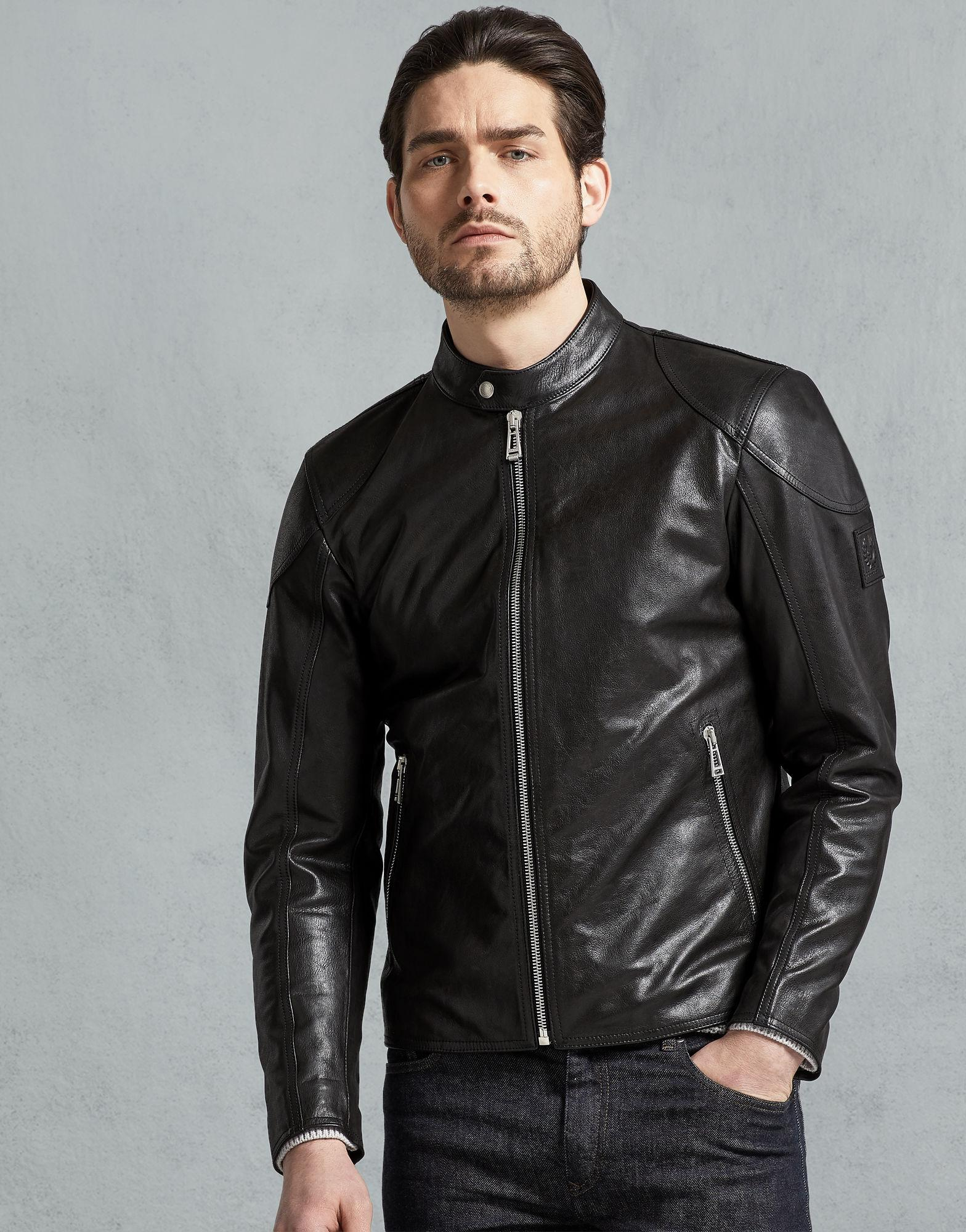 f64f2169529 Belstaff - Black Bandit Café Racer Jacket for Men - Lyst. View fullscreen
