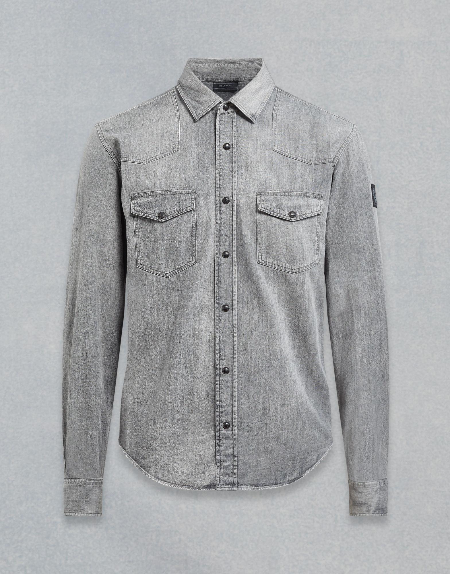 8242974cd47 Belstaff Somerford Shirt in Gray for Men - Lyst