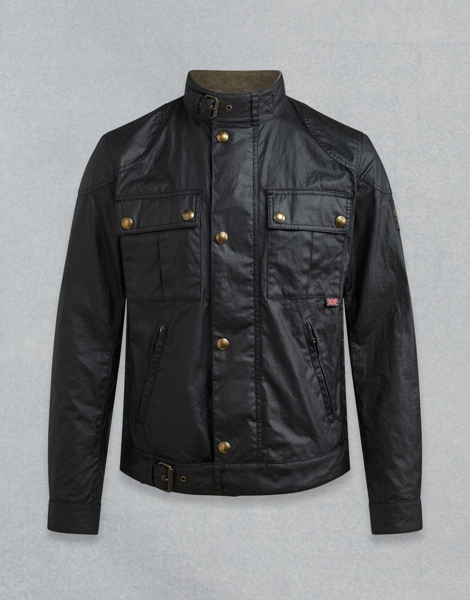 b3f07d5dd72f Belstaff Gangster Waxed Jacket in Black for Men - Save 8% - Lyst