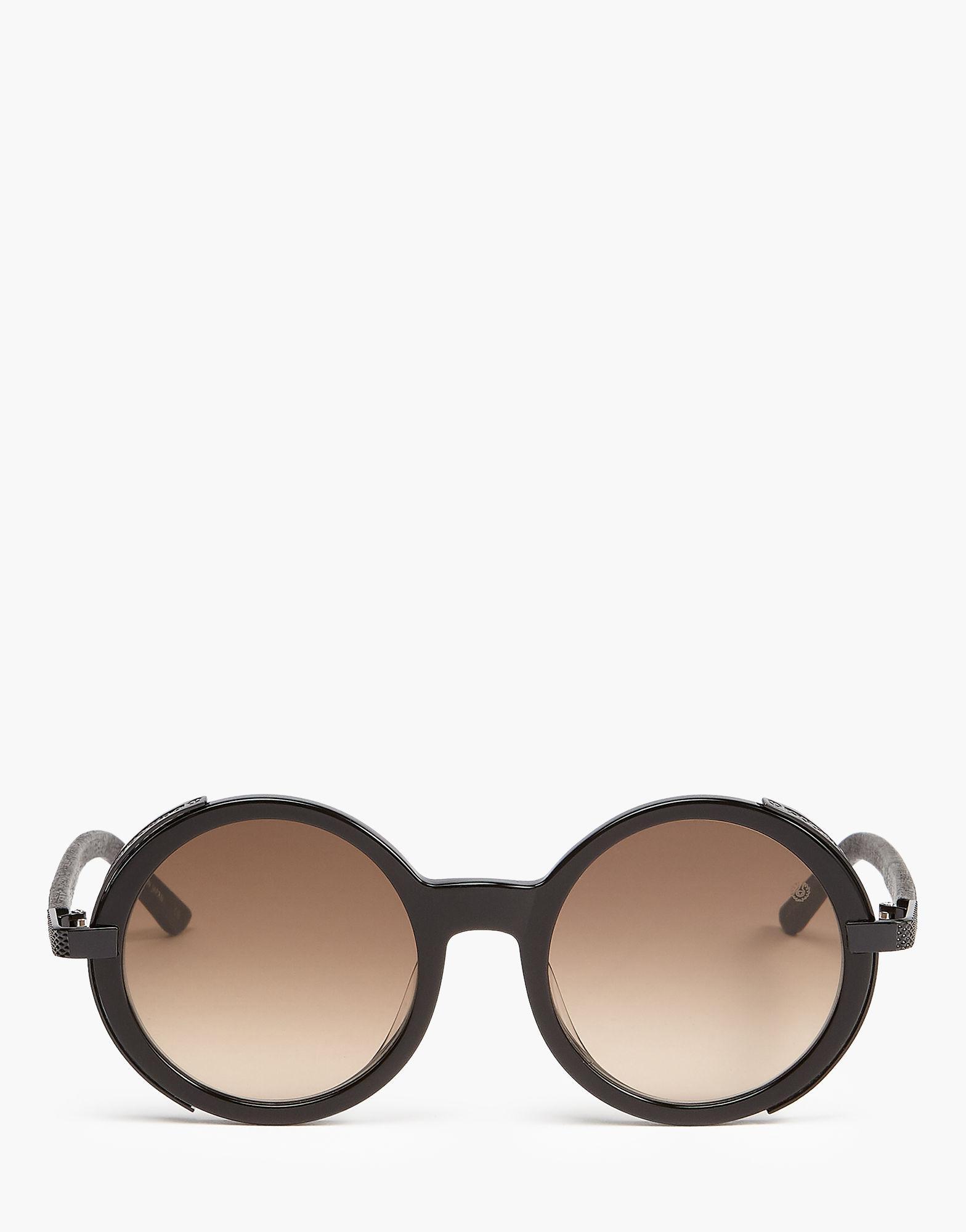 8f5302fc6a Belstaff Monaco Round Sunglasses in Black - Lyst