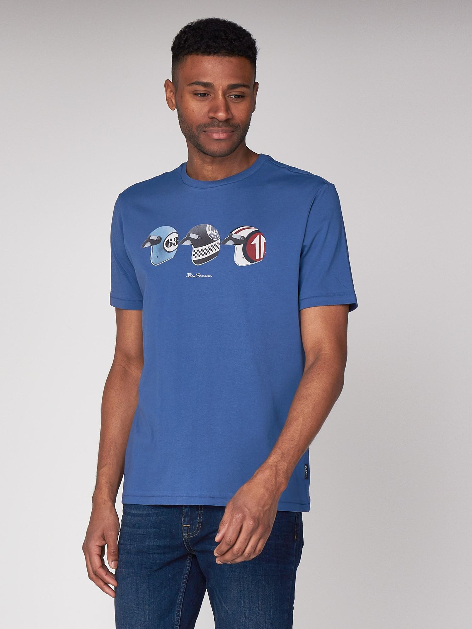 b4a997247 Ben Sherman Helmets T-shirt in Blue for Men - Lyst