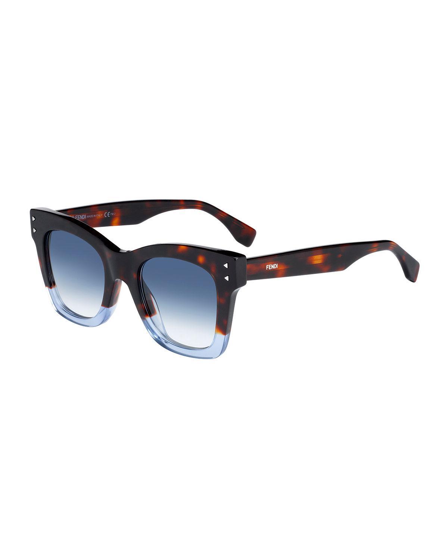 Womens Ff 0237/S 08 Sunglasses, Havana Blue, 49 Fendi
