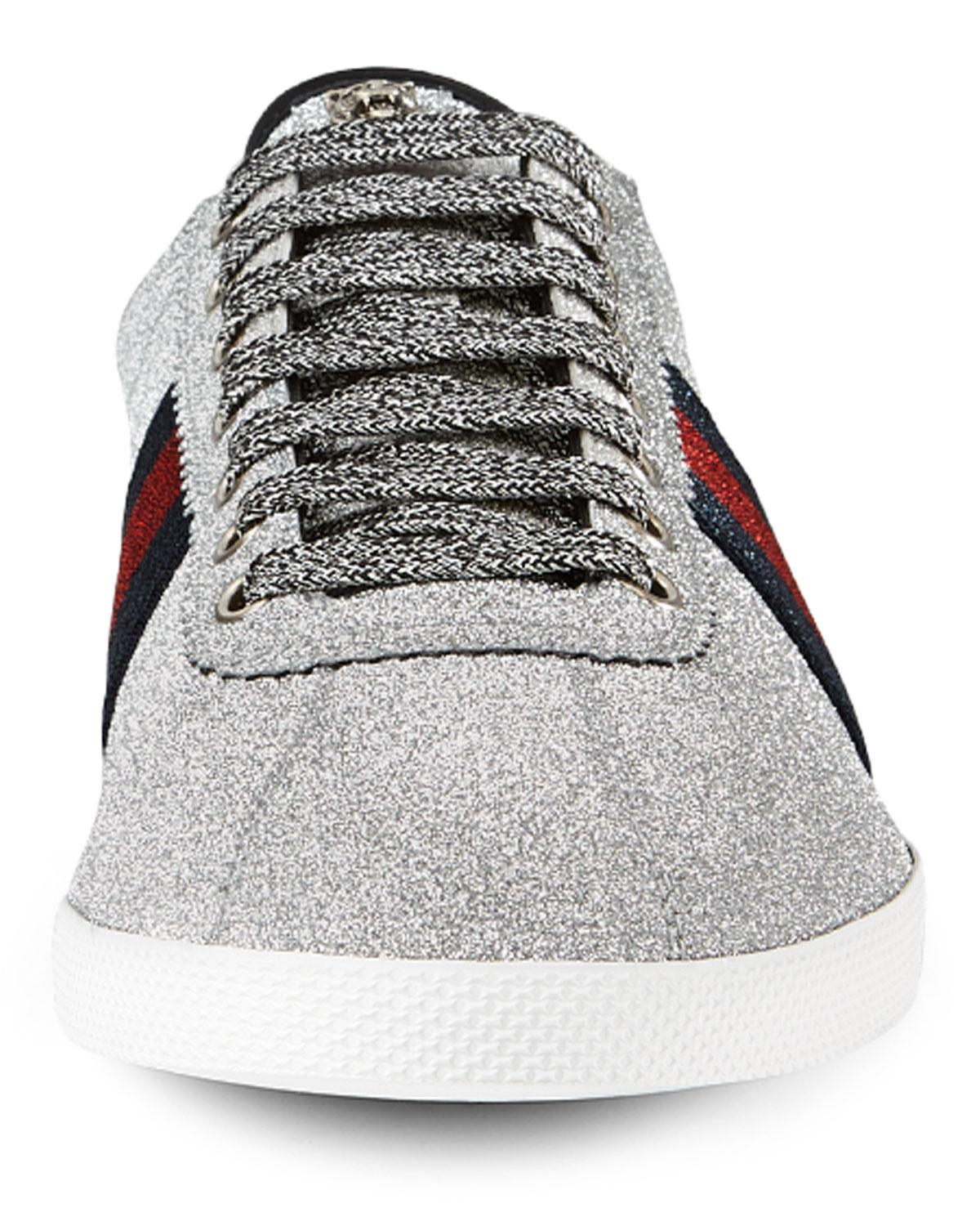 0d2ad6a95d0e2 Lyst - Gucci Men s Bambi Web Low-top Sneakers With Stud Detail for Men