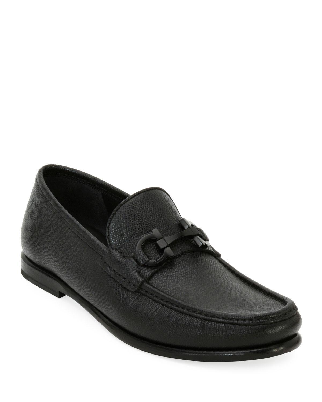 c9724b0ce22b Lyst - Ferragamo Men s Crown Gancini Bit Loafers in Black for Men