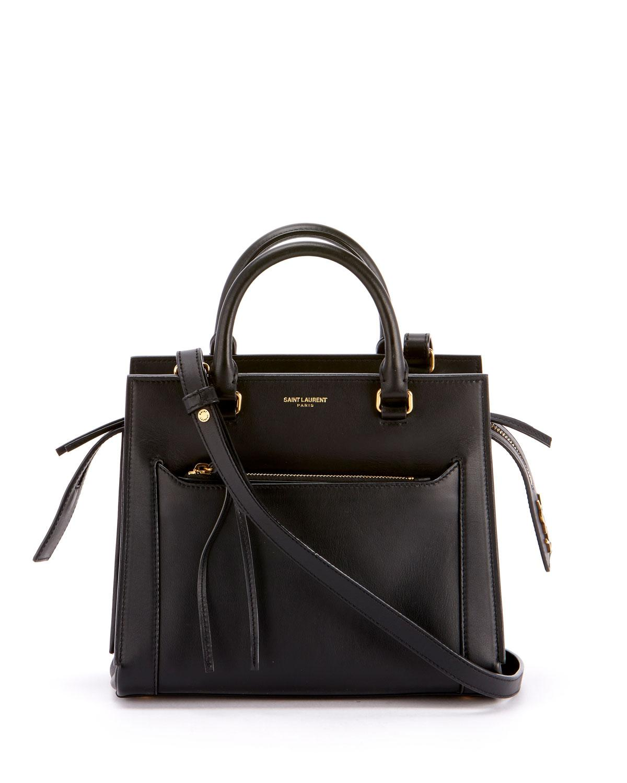 638fb9cf8355 Lyst - Saint Laurent Small Eastside Leather Crossbody Bag in Black