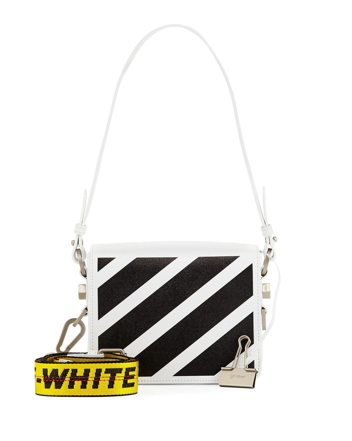 d76aaaa68 Off-White c/o Virgil Abloh Diagonal Striped Leather Shoulder Bag - Lyst