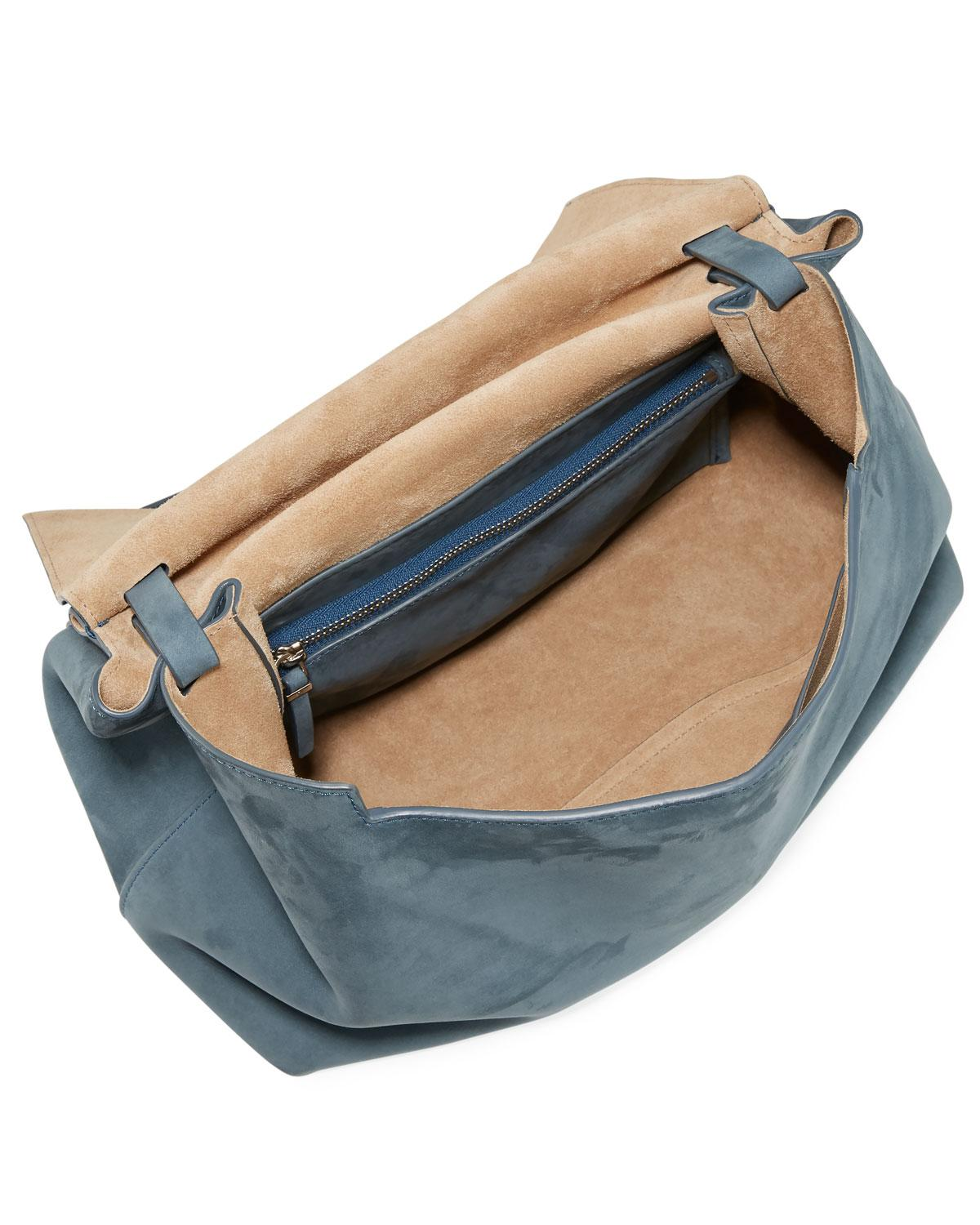 daf2943931 Lyst - The Row Sidekick Two Suede Shoulder Bag in Blue