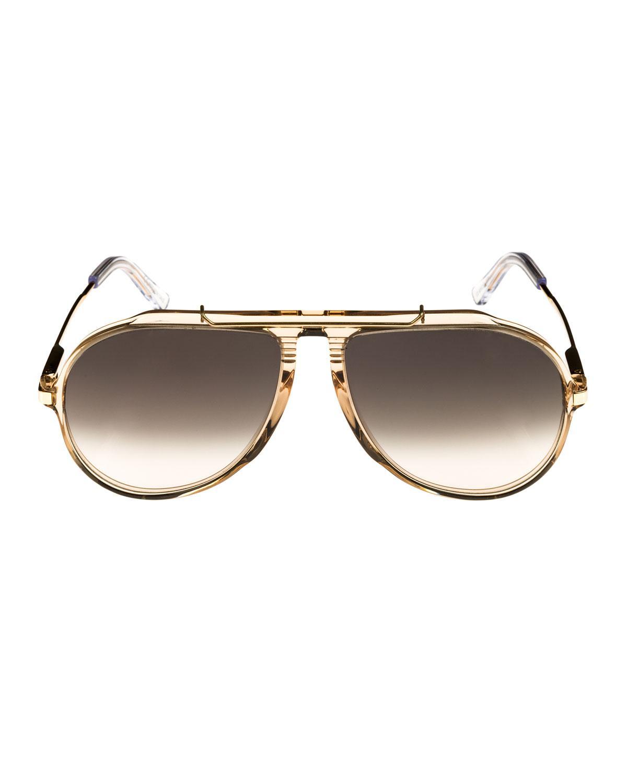 c63e6aa7a45 Lyst - Céline Gradient Acetate   Metal Aviator Sunglasses