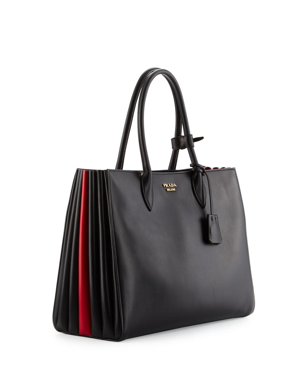 8a5cb225a77f Prada Bibliothèque Xl Leather Tote Bag in Black - Lyst