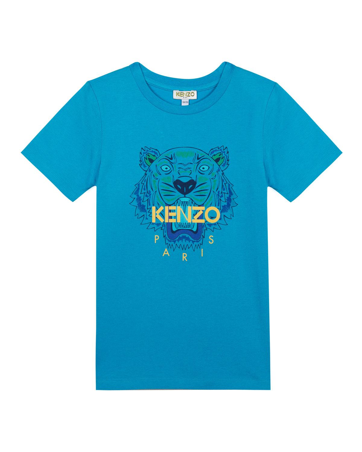 4101923e7 KENZO - Blue Tiger Logo Printed T-shirt for Men - Lyst. View fullscreen