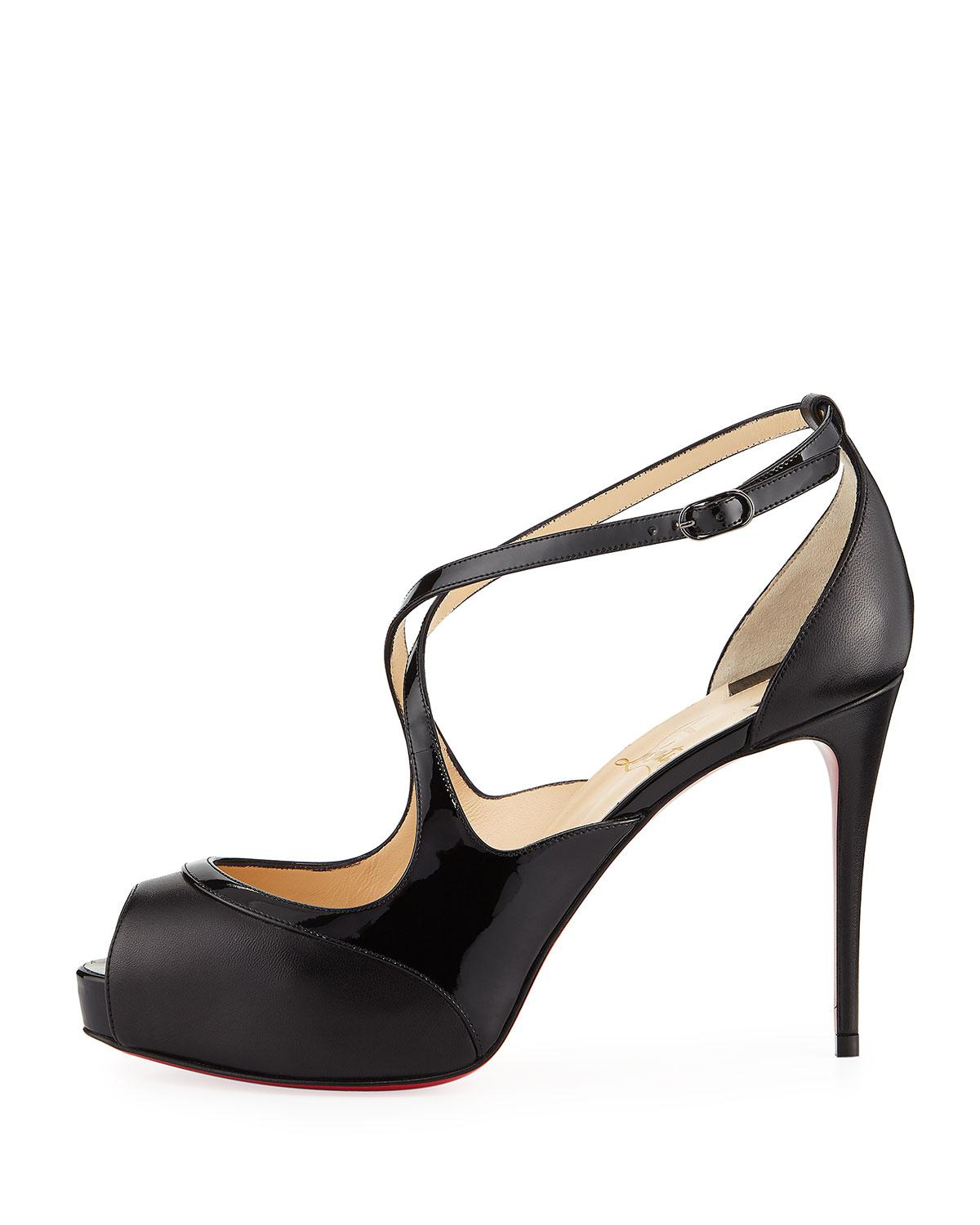 fe1ac568901 Lyst - Christian Louboutin Mirabella Strappy 100mm Red Sole Pumps in ...