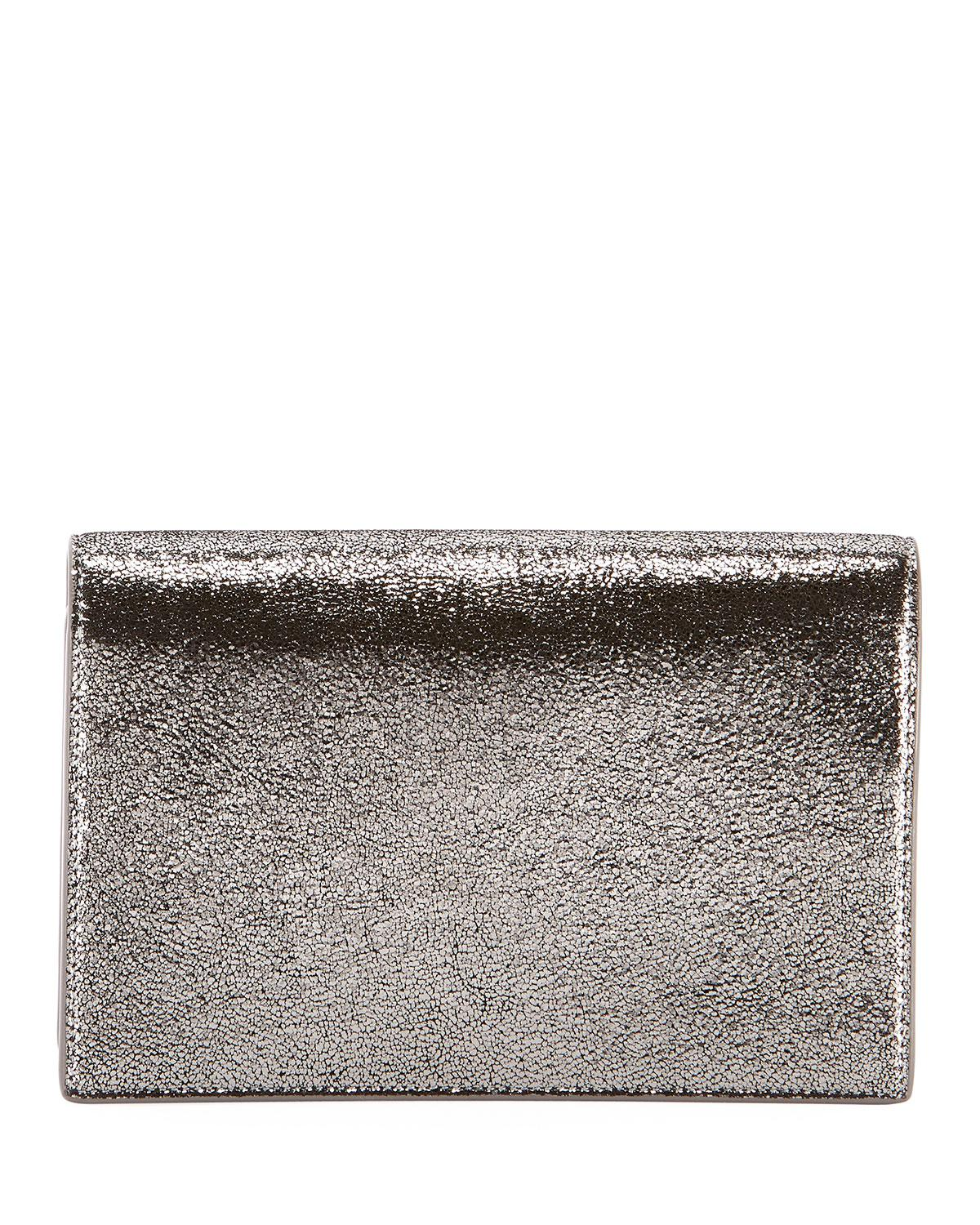 Lyst - Saint Laurent Kate Monogram Ysl Small Crackled Metallic ... 5577ffab03ec4