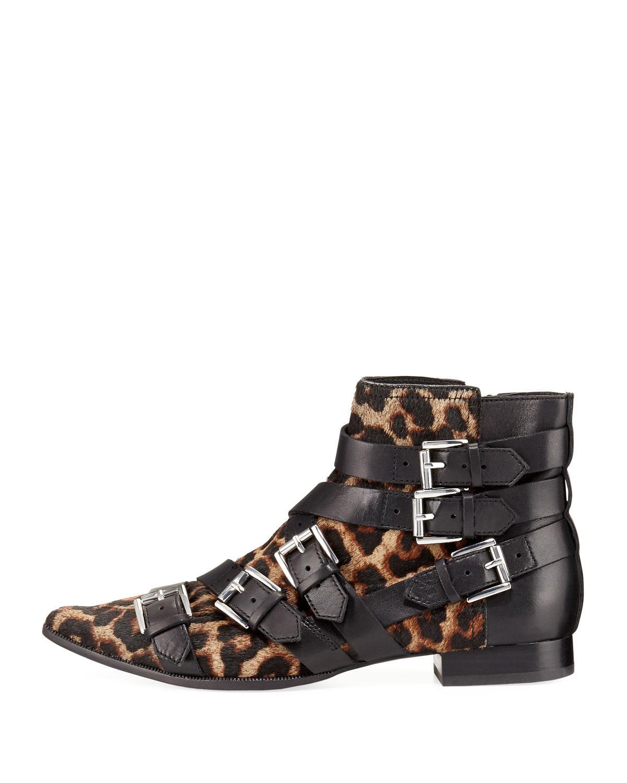 Hair Ash Print Leopard Boots Buckle Lyst Calf Blast w4xzqzXZ