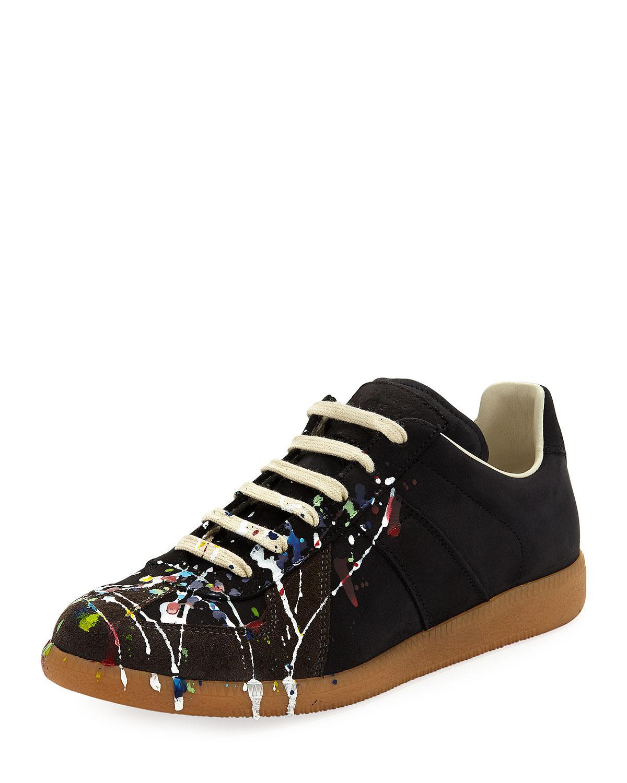 69015fc91bfc Lyst - Maison Margiela Men s Splatter-print Painter Low-top Sneakers ...