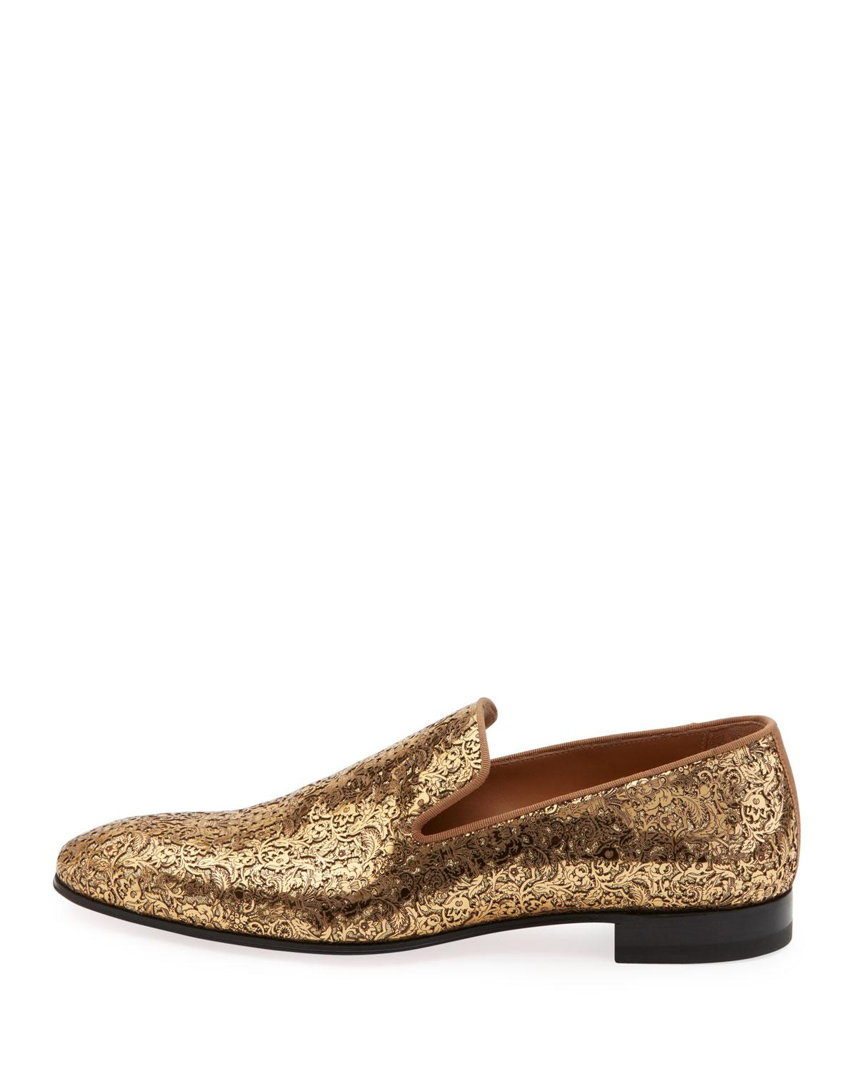 ff4263970a5 Lyst christian louboutin dandelion flat in metallic for men jpg 1200x1500  Loafers gold christian louboutin logo