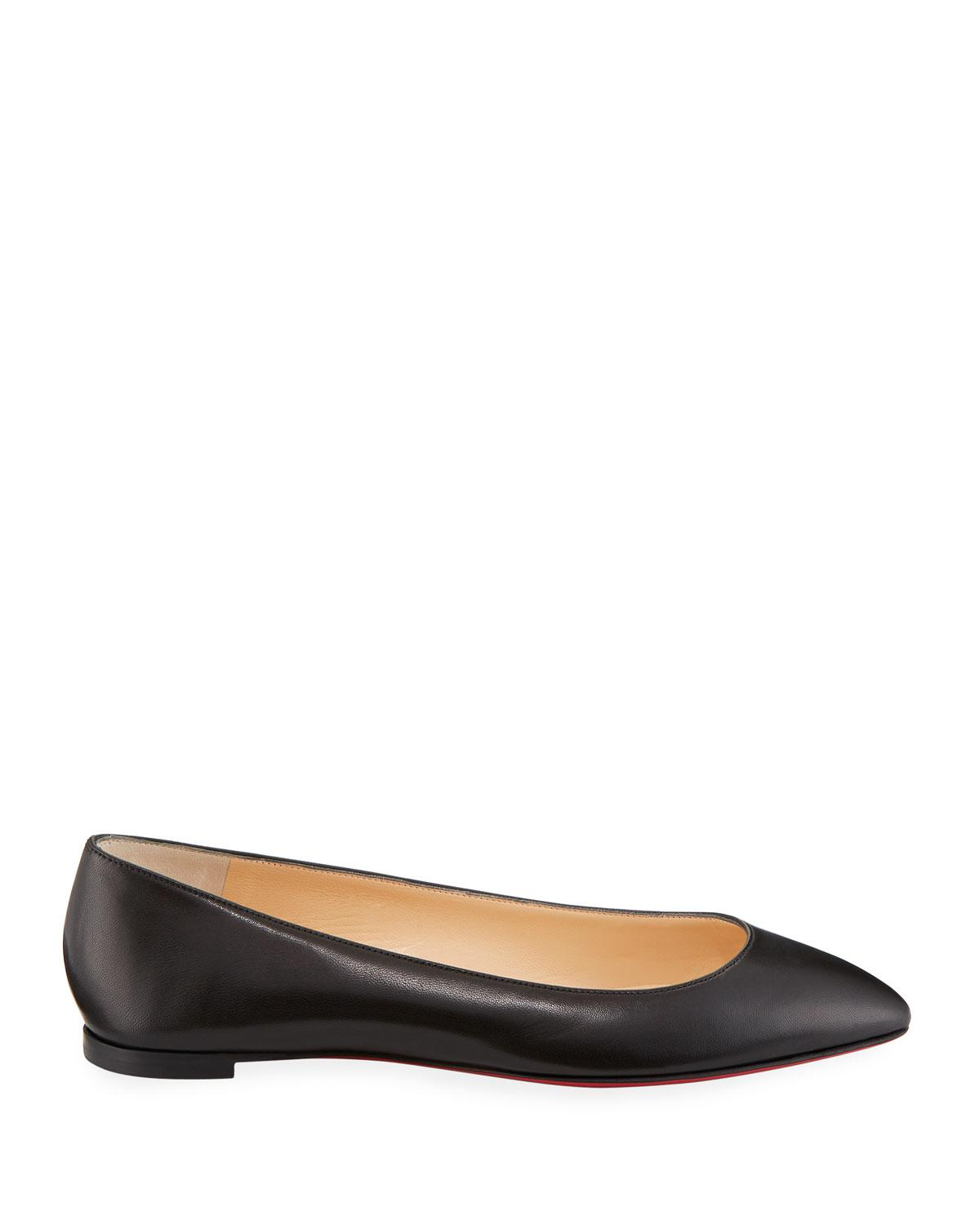 8193922569b6 Lyst - Christian Louboutin Eloise Napa Leather Red Sole Flat in Black