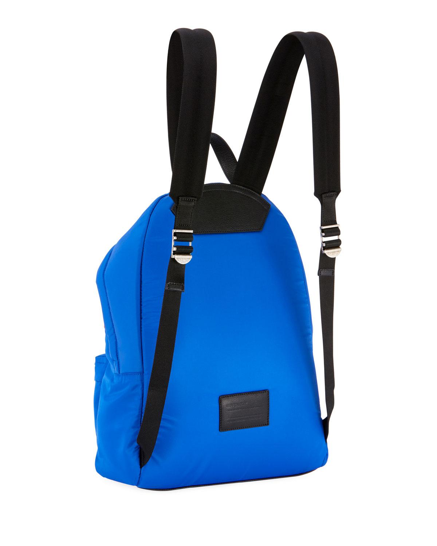 7ef7efbdaffe65 Lyst - Givenchy Men's Urban Logo Nylon Zip-around Backpack in Blue ...
