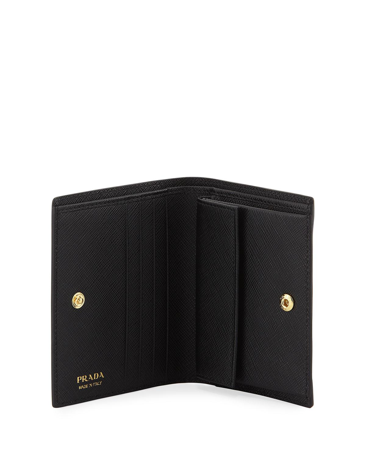 b2fb33b0c502 ... coupon code lyst prada lipstick print leather compact wallet in black  save 2.3809523809523796 af138 38d08