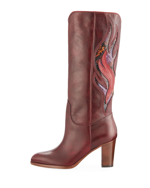 0cf6d90125c Lyst - Frye June Flame Knee Boots