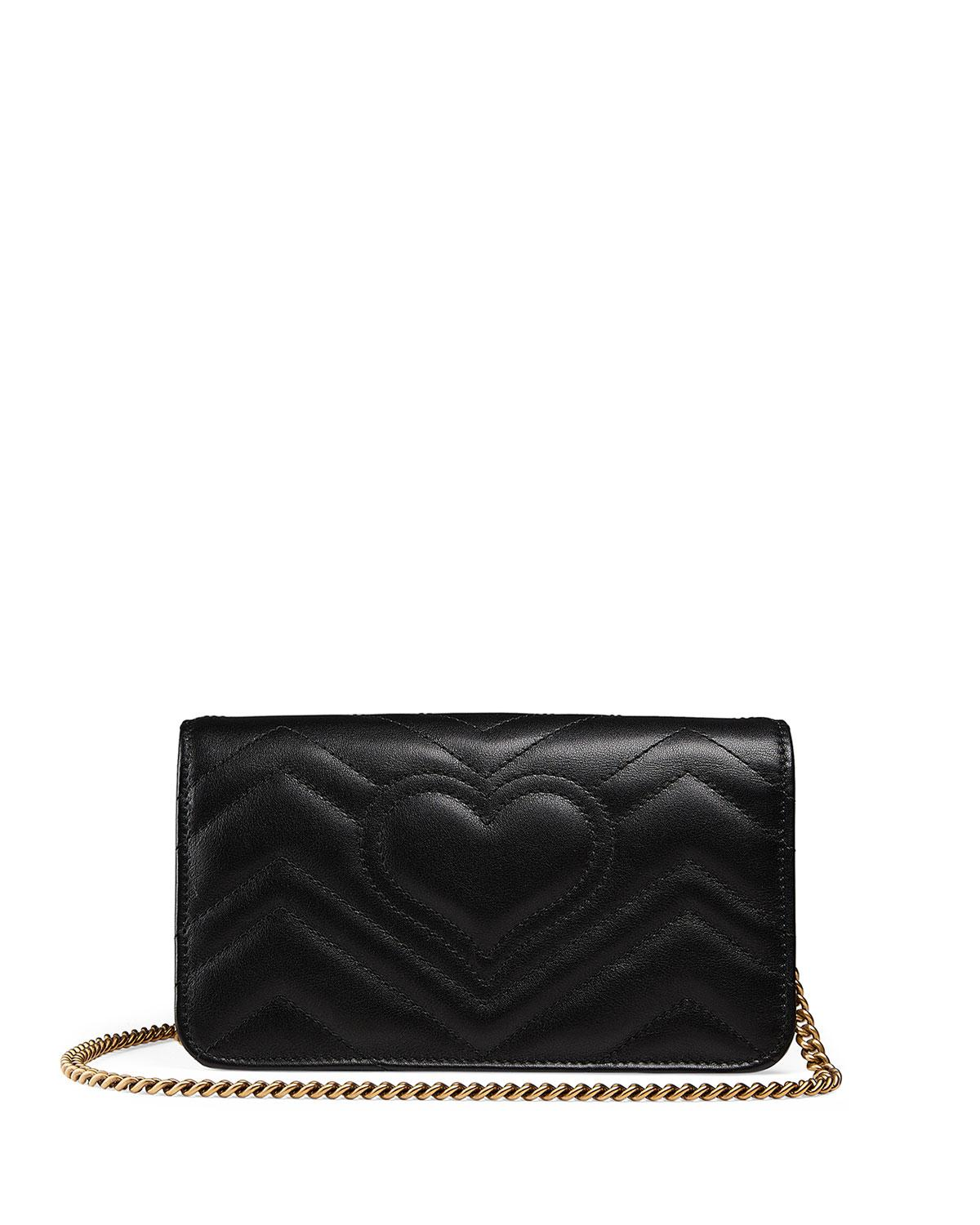 f4c34f957c34 Gucci Small Full Flap Wallet-on-a-chain With Insects in Black - Lyst